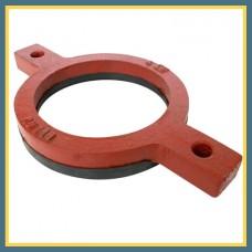Кольцо опорное чугунное 100 мм с гальванизированной резиной