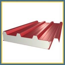 Сэндвич-панель стеновая трехслойная 1190х80 мм с минеральной ватой