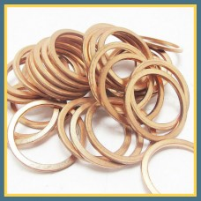 Кольцо медное уплотнительное 10,2x13,4x1 мм М1М DIN 7603