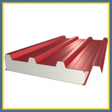 Сэндвич-панель стеновая трехслойная 1190х120 мм с минеральной ватой