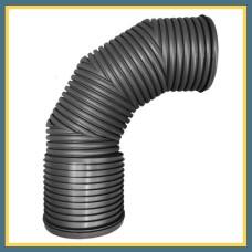 Отвод гофрированный 125 90° OPTIMA (литой)