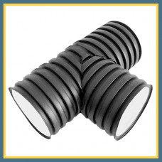 Тройник для гофрированных труб 125 90° OPTIMA (литой)
