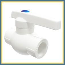 Вентиль шаровый полипропиленовый DN 20 (белый)