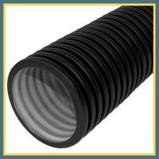 Труба гофрированная DN/OD 125/106,6 SN 8 PР-В (6 м с раструбом) OPTIMA